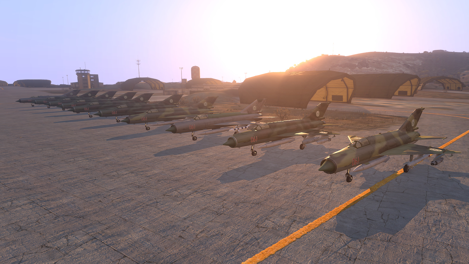 Mig21s lined up ready for action